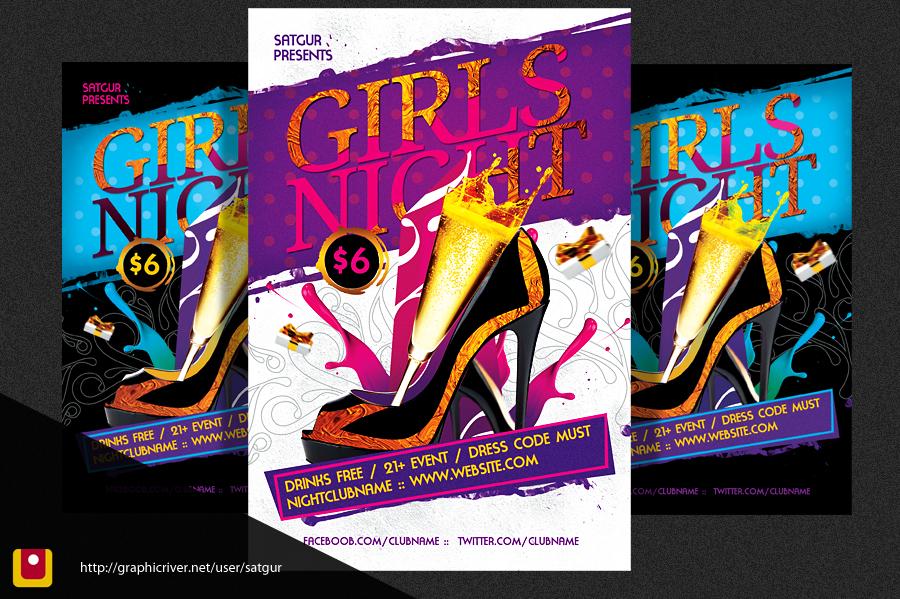 Girls Night Party Flyer V3 by satgur