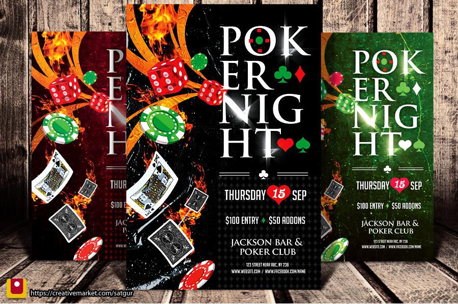 Poker Night Flyer by satgur