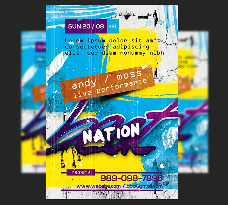 Beat Nation Flyer by satgur