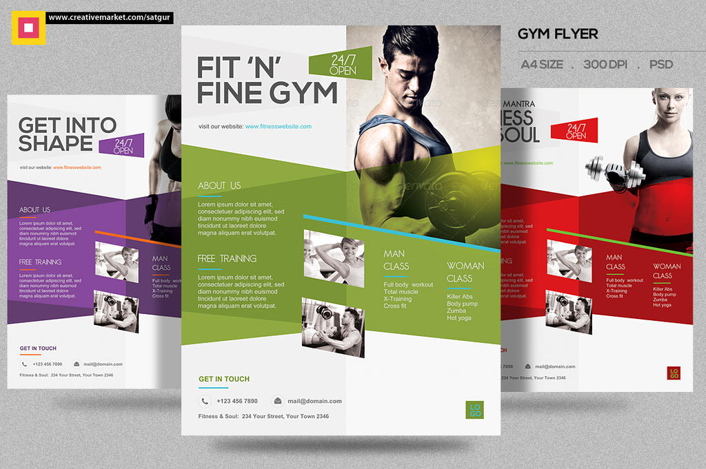 Gym Fitness Flyer by satgur