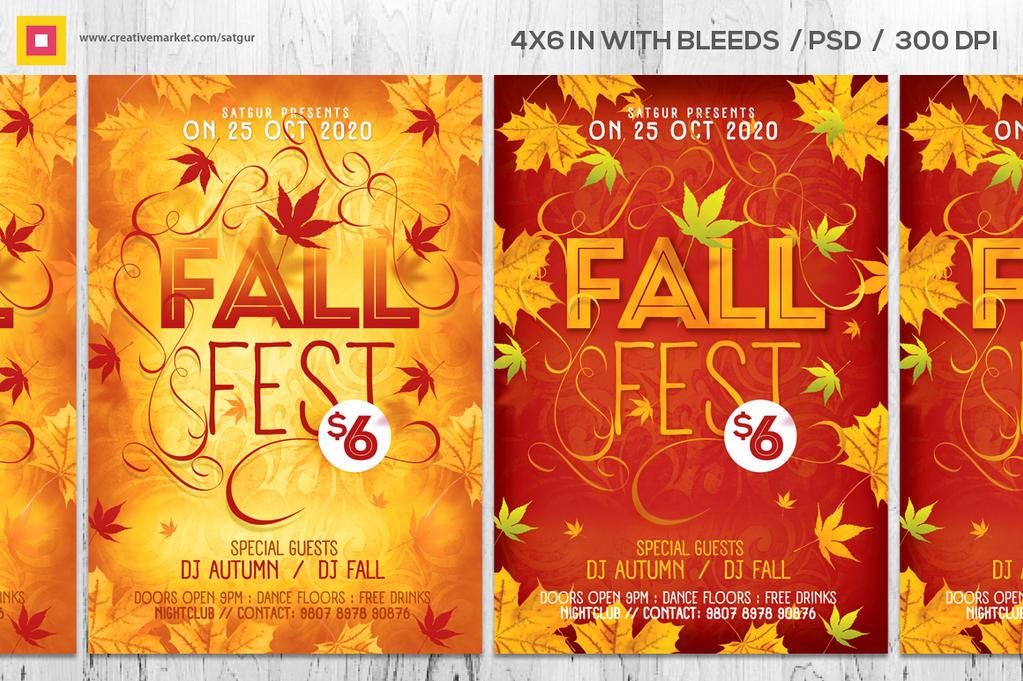 Fall Fest Flyer / Autumn Flyer by satgur