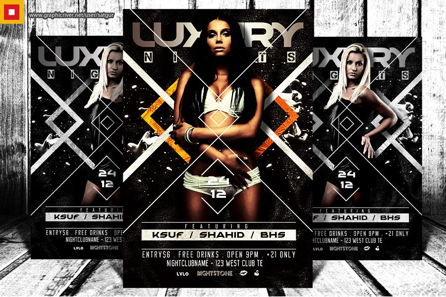 Luxury Nights Party Flyer by satgur