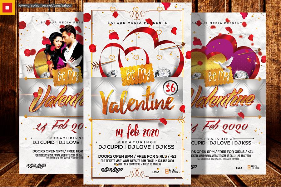 Valentines Day flyer by satgur