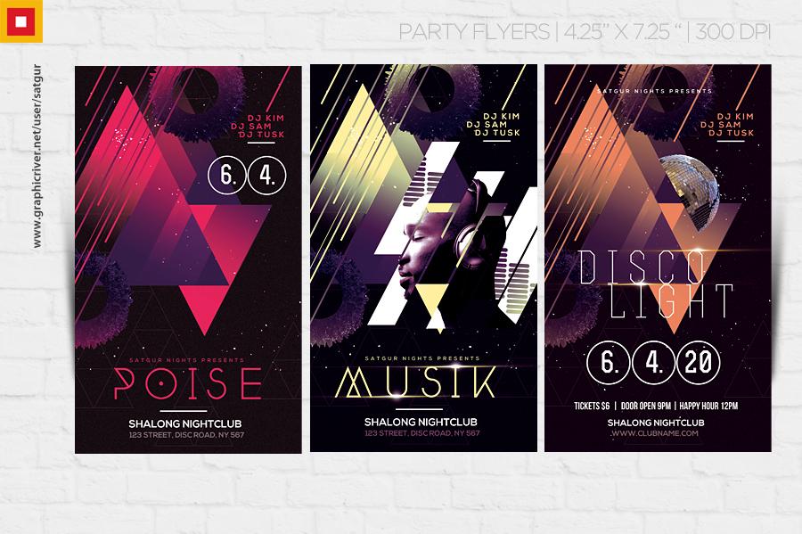 Disco Music PSD Flyer by satgur
