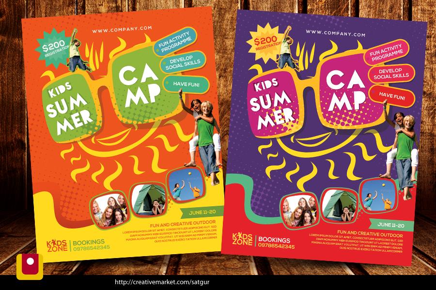 Kids Summer Camp Flyer by satgur