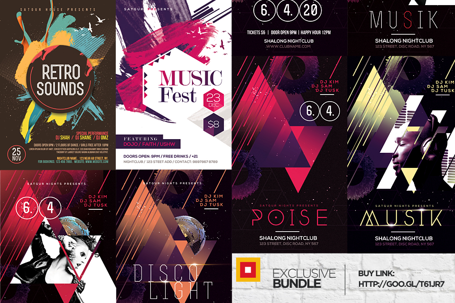 Abstract Flyers Bundle - 7 Flyers by satgur