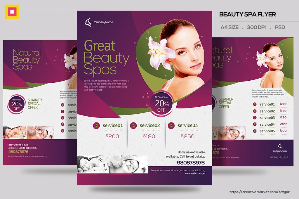 Beauty Spa Promotion Flyer by satgur