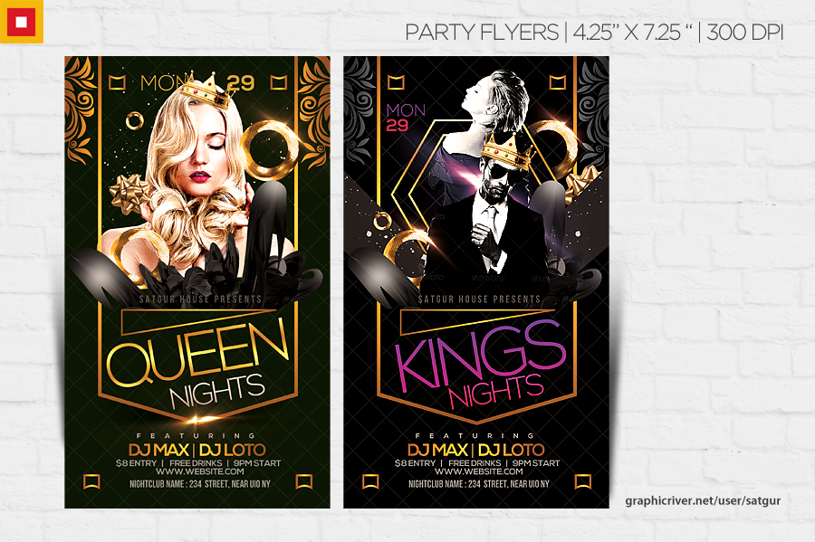 Kings Night Party Flyer by satgur