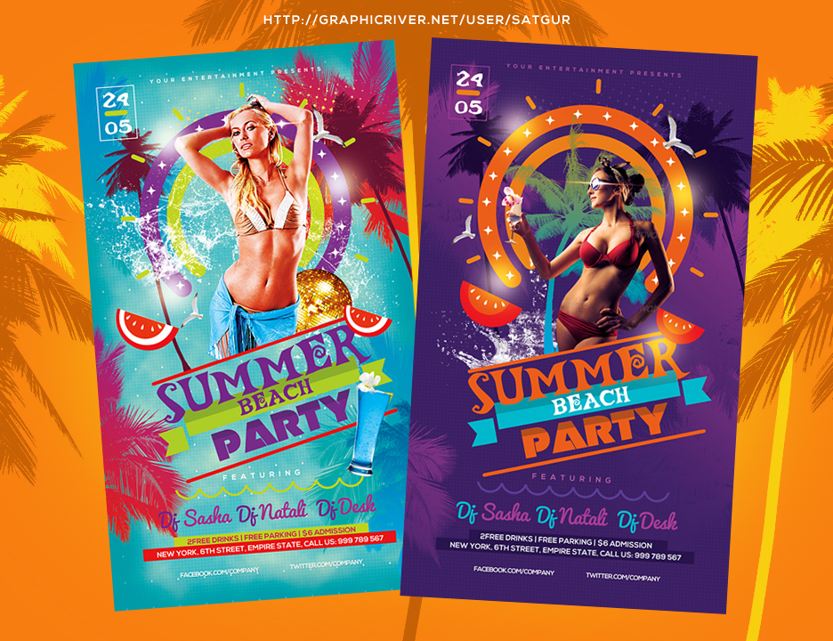 Summer Beach Party Flyer by satgur