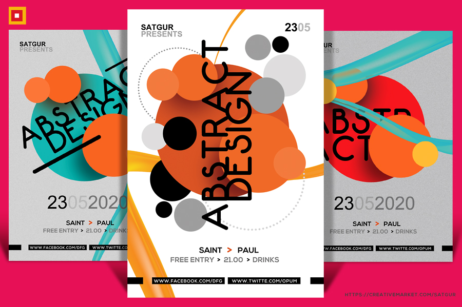 Abstract Circles Flyer by satgur