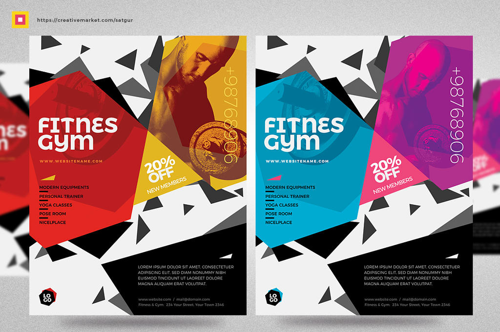 Fitness Flyer / Gym Flyer by satgur