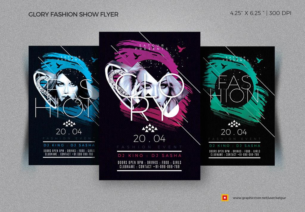 Glory Fashion Show Flyer by satgur