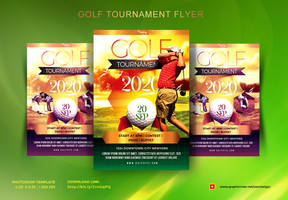 Golf Tournament Flyer by satgur