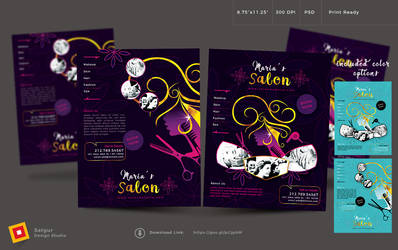 Beauty Salon Flyer by satgur