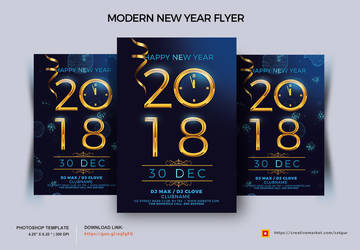 Modern New Year Eve Flyer by satgur