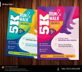 5K Run Flyer /  Marathon Flyer by satgur