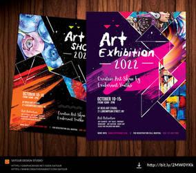 Art Show Flyer / Exhibition Flyer by satgur
