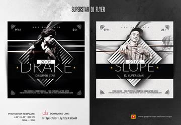 Superstar Dj Flyer by satgur