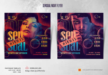 Sensual Night Flyer Template by satgur
