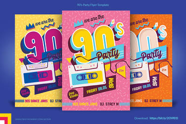 90s party flyer by satgur