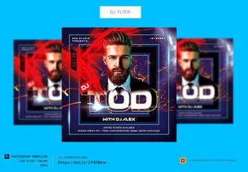 Square DJ Flyer Template by satgur