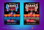 Retro Game Night Flyer Template by satgur