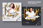 Birthday Bash Flyer Template PSD Download by satgur