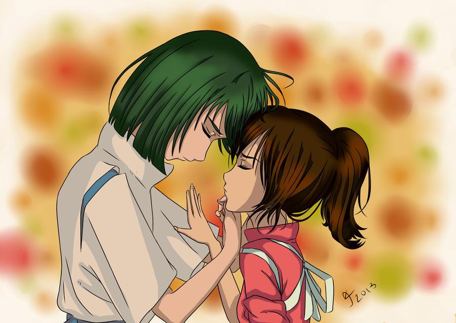 Chihiro and Haku by Sassi-Senpai