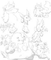 a buncho doodles by chuchi-lo