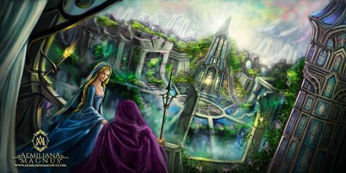Lost City Fantasy Art Illustration
