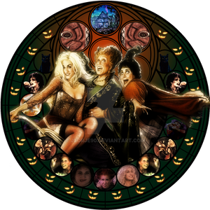 Sanderson Sisters stained glas