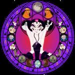 Yzma stained glass
