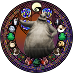 Oogie Boogie stained glass