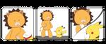 Lion-Kon + Mouse-Pikachu by An1mel0vah