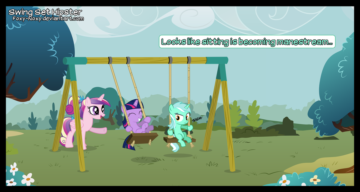 Swing Set Hipster by Foxy-Noxy