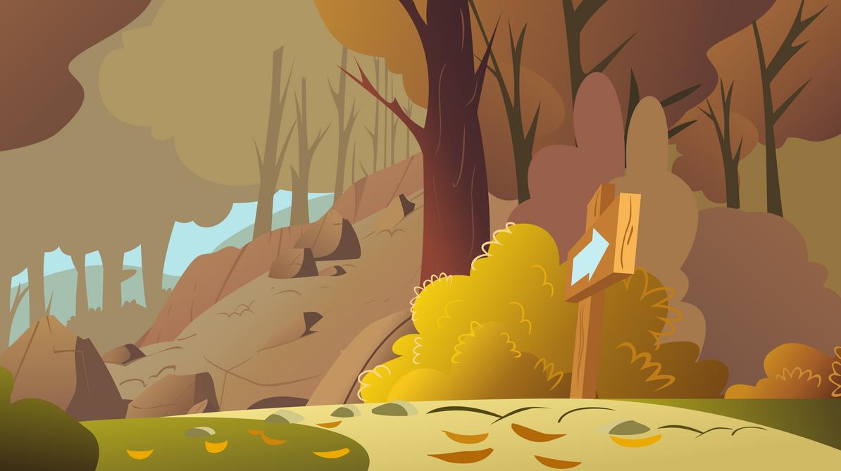 Rocky Autumn Hill by Foxy-Noxy