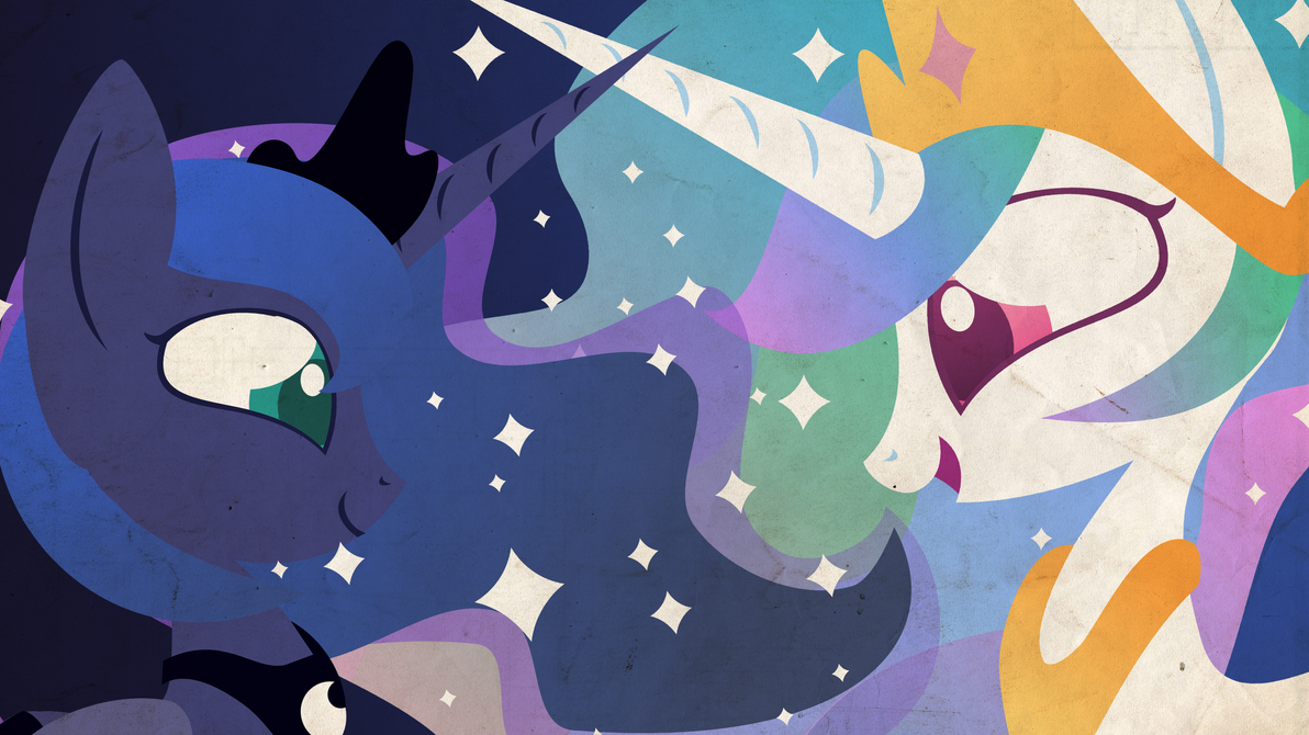 Wallpaper - Sun and Moon by Foxy-Noxy