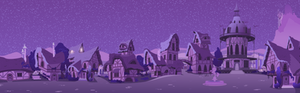 Ponyville Street to Town Center (Night)