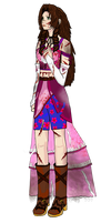 FFVIIACC MMD AD artwork - Aerith (wounded) by FFSteF09