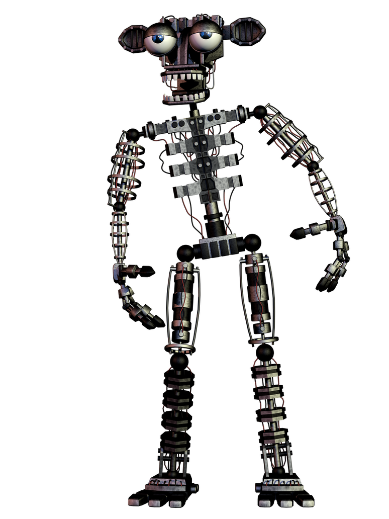 Fnaf 2 Endoskeleton Full Body 4k By Coolioart On Deviantart