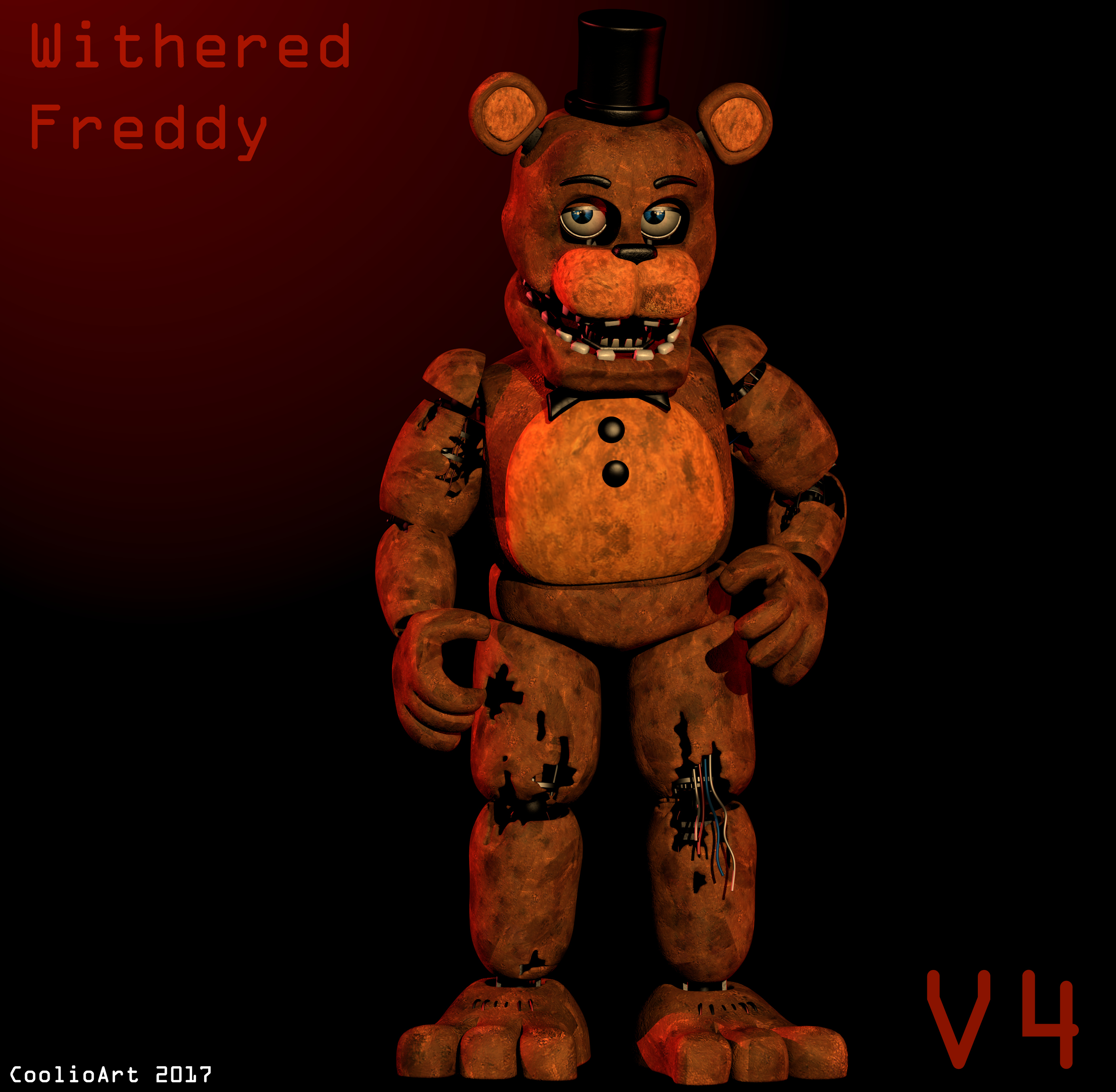 Blender Withered Freddy V4 By CoolioArt On DeviantArt