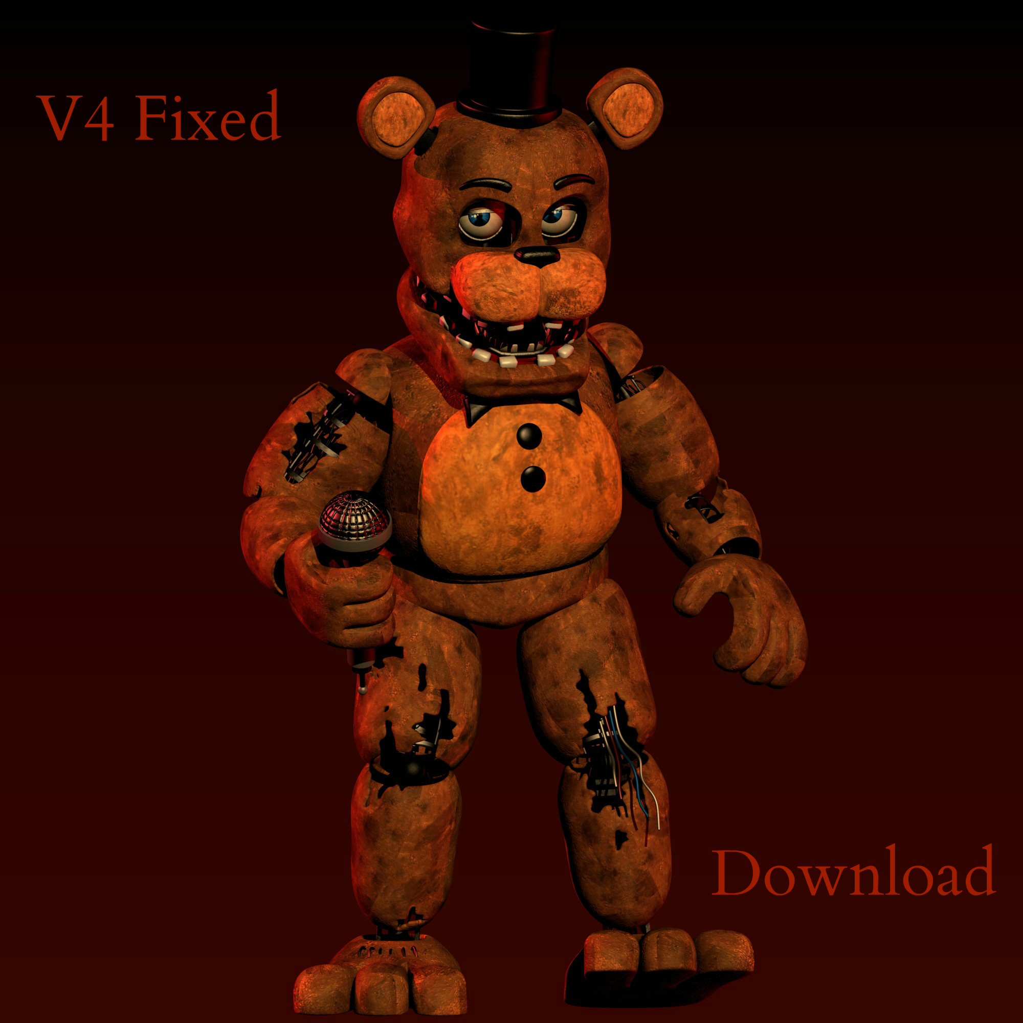 Withered Freddy V4 FIXED [DOWNLOAD] By CoolioArt On DeviantArt