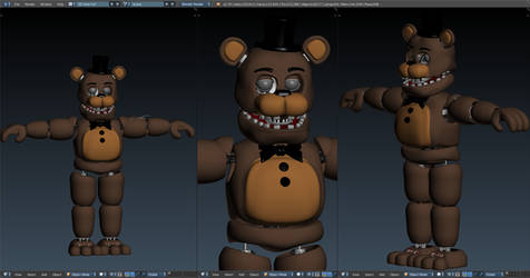 [Withered pack v3] Withered Freddy v7 wip by CoolioArt
