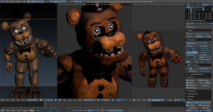Withered Freddy v7 Current progress by CoolioArt