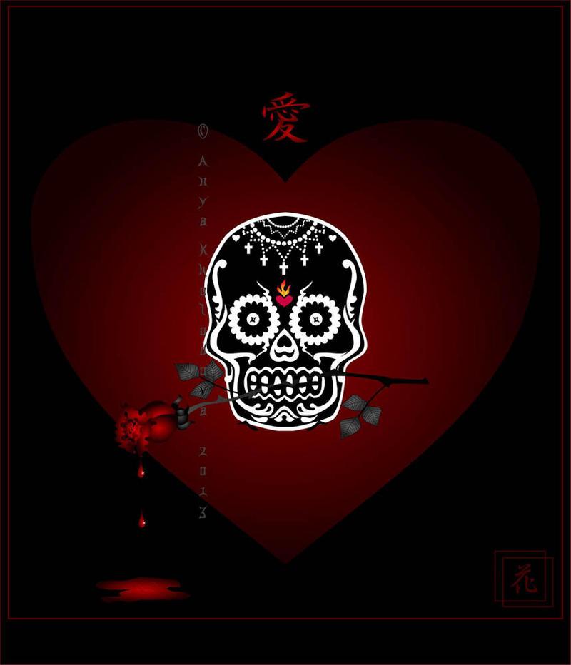 THE BIRTHDAY Skull Valentine By Broom Rider ...