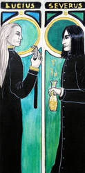 Snape Lucius bookmark by vimessy