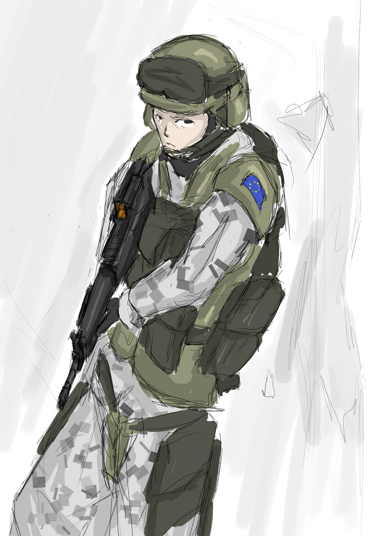 EU Soldier practice by Csp499