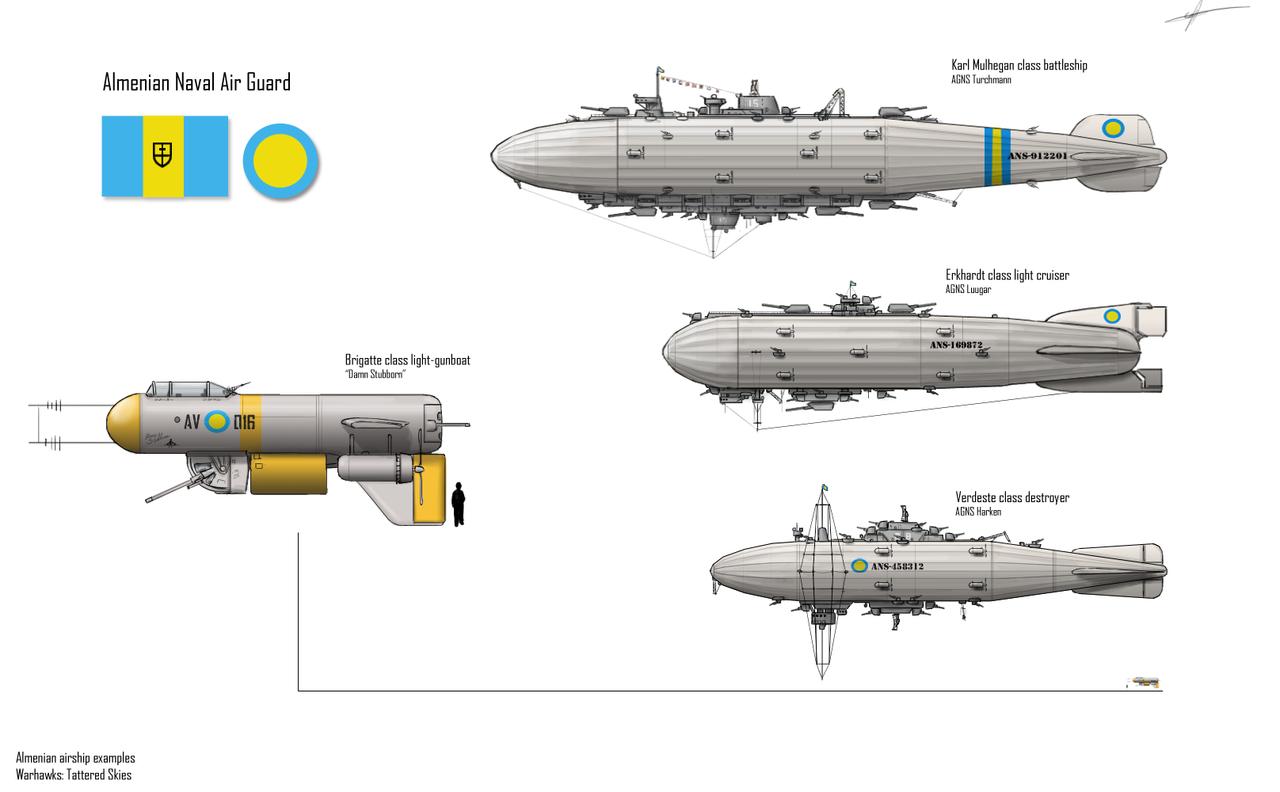 Warhawks- Almenian Airships by Csp499