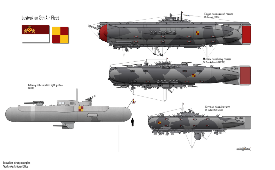 Warhawks- Lusivakian Airships by Csp499