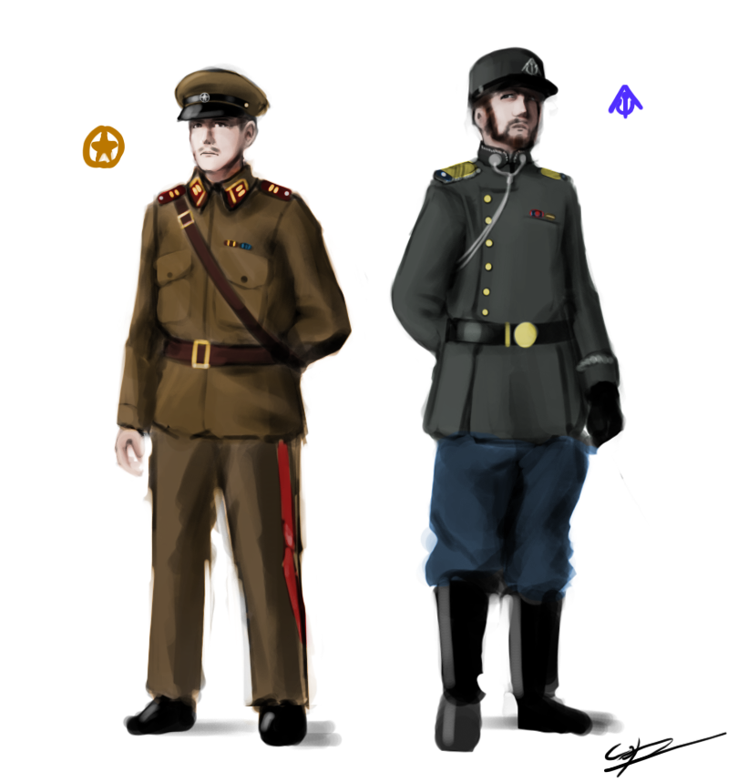 Army Navy Game 2017 Uniforms >> Foxhole - Officers by Csp499 on DeviantArt